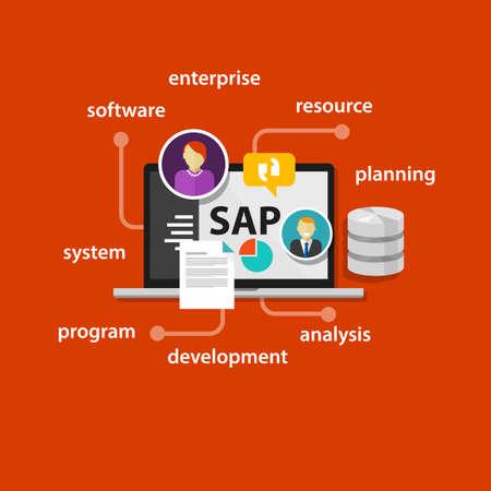 sap: SAP system software enterprise resource planning vector