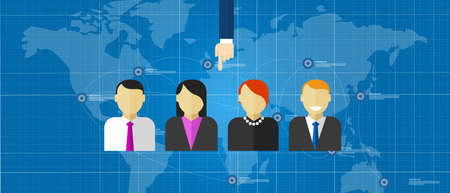 ad: Ad hoc selected special team of people group employee selection recruitment world wide online