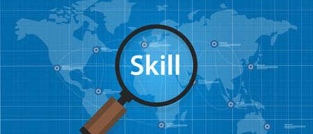 Carenza di competenze Trova Ricerca talento lavoratore qualificazione vettore Archivio Fotografico - 61960191