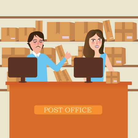 persona servizio personale della reception consegna postale