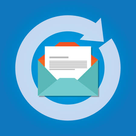 E-mail automatisch automatisch antwoord reactie pictogram verzenden vector Stockfoto - 66602347