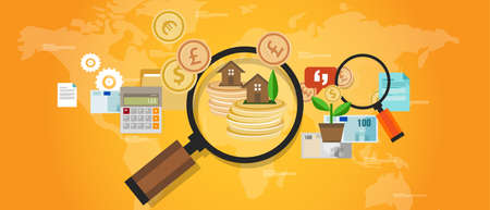funding: property fund money house real estate investment vector