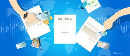 tratado fiscal entre el acuerdo internacional del país se ocupa del vector