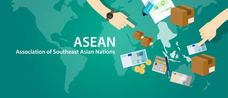 ASEAN Association of Southeast Asian Nations vector Imagens - 66903605