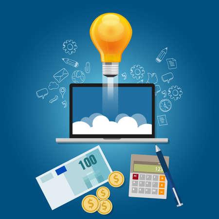 Finanzieren Sie Ideen erhalten Finanzierung Ihr Start-up Projekt Vektor zu starten Standard-Bild - 67293856