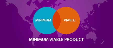 intersection: minimum viable product MVP circle intersection diagram process vector
