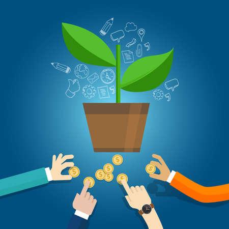 financiación inicial de puesta en marcha inversiones iniciales de capital de riesgo del vector