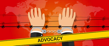 voluntary: advocacy helping hand people under pressure vector