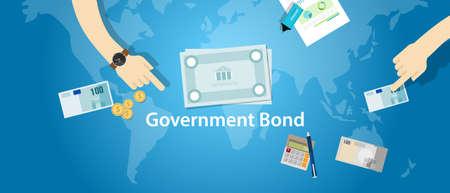 bond: government bond investment money financial fund vector