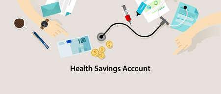 savings account: HSA Health Savings Account vector insurance medicare