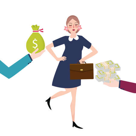 salary: good payment money salary offer jobs career vector Illustration