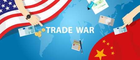 trade war America China tariff business global exchange international 版權商用圖片 - 70013230