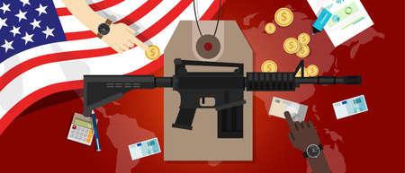 Costo de la economía de conflicto control de armas de guerra militar gastos de defensa vestíbulo america Foto de archivo - 69824544