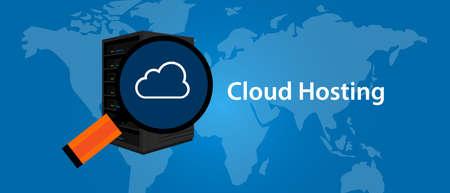server technology: cloud hosting virtualization server web- services infrasctructure technology