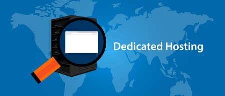 server technology: dedicated server web hosting services infrasctructure technology