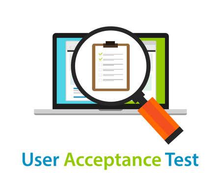ユーザー受け入れテストのレビューをコーディング UAT ソフトウェア品質保証承認プロセス
