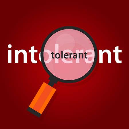 Tollerante intolleranza al concetto di tolleranza nel multicultualismo Archivio Fotografico - 71544162