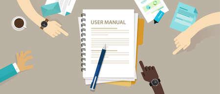 guía del usuario de instrucciones Manual de referencia del libro de papel del documento