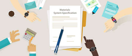 material system specifications project procurement user requirement document