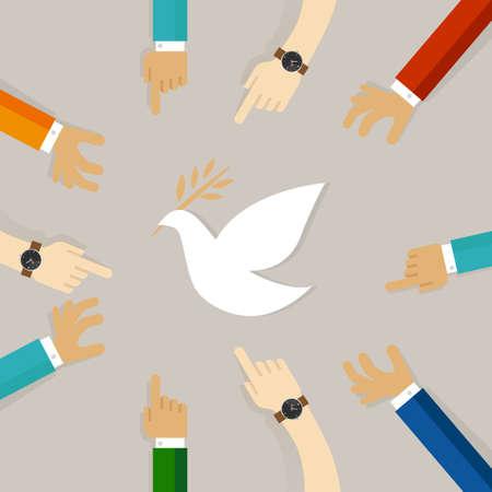 Pace conflitto simbolo di ricostruzione dell & # 39 ; ospedale eseguita insieme per volare piccione bianco Archivio Fotografico - 75572621