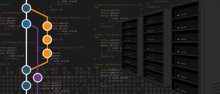 Git repositories software subversion backup server process in programming and coding with milestone branch