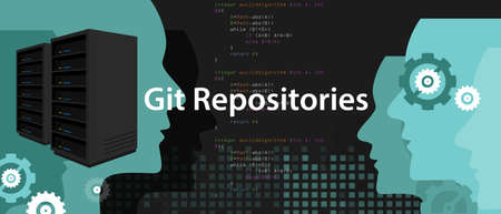 Git repositories software subversion backup server process in programming and coding.