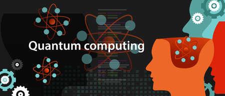 Concepto de ciencia de la tecnología de física computacional cuántica