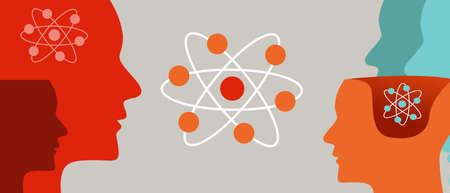 l'apprentissage quantique la tête et l'atome la physique des neutrons moléculaires l'esprit cérébral la théorie scientifique