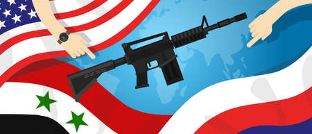 Syria America Russia USA proxy war arms conflict world international dispute money business hands control
