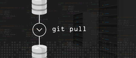 Git pull request programming coding server and database