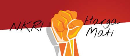 NKRI harga mati hand fist arm Indonesia flag red white