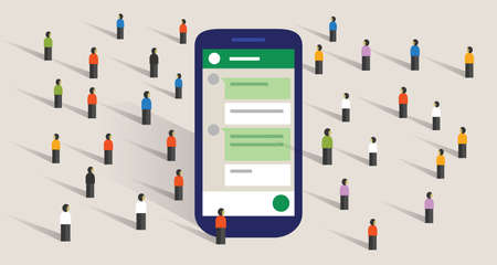 Group chat community of people digital conversation public communication forum