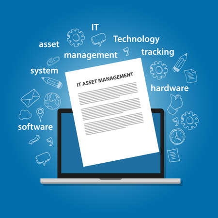 IT Asset Management or ITAM concept of managing information technology resources in company such as hardware software and other resources