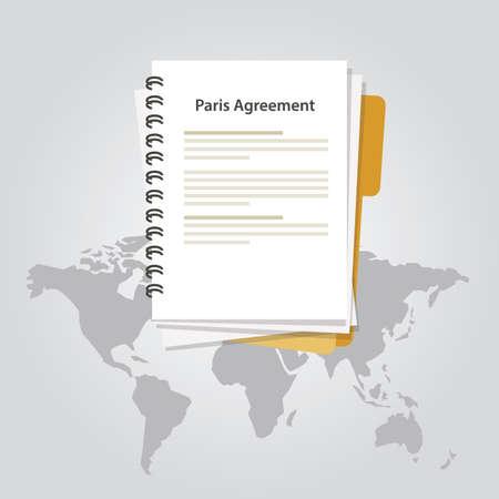 Paris agreement climate accord paper document international