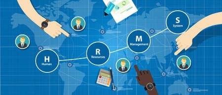 HRMS Human Resources Management System vector bedrijfsmedewerker