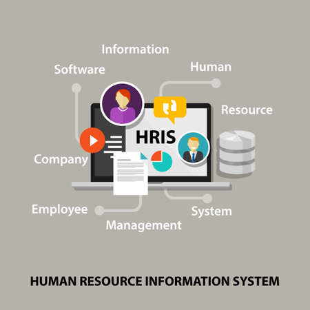 HRIS Human Resources Information System software application company vector 版權商用圖片 - 84001040