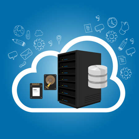 Infrastructure as a Service on the cloud internet hosting server storage