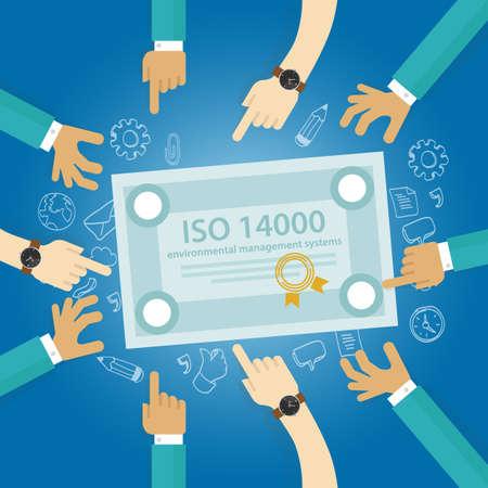 ISO 14000 gestione standard ambientali conformità aziendale a organizzazione internazionale controllo a mano documento di controllo