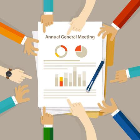Hauptversammlung der Hauptversammlung Hauptversammlung des Aufsichtsrats Gesellschaftsprüfung Finanzielle Gewinntabelle Handarbeit auf Papier