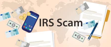 IRS tax scam via phone security fraud