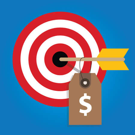 pricing strategy price tag on consumer target market financial target Illustration