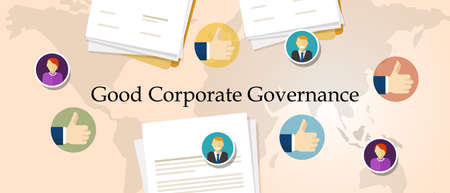 Good Corporate Governance concept template design