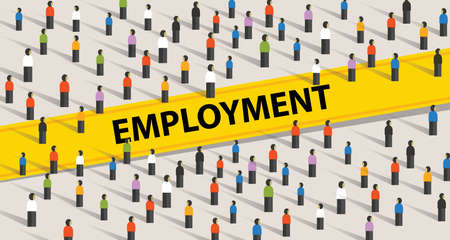 Employment concept. Crowd of people, individuality and diversity concept in vector Ilustração