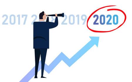 Wizja lidera biznesu na 2020 rok w firmie. Patrząc na oznaczony cel wzrostu i możliwości