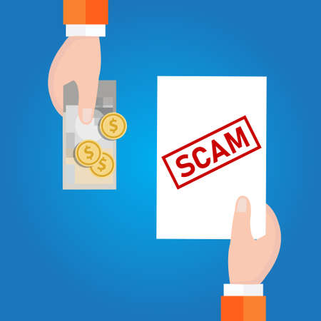 fraud investment scam. money transaction with safety risk