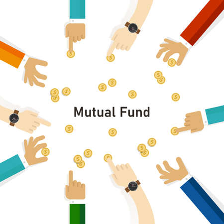 Mutual fund hand with money coin invest to fund manager financial cash