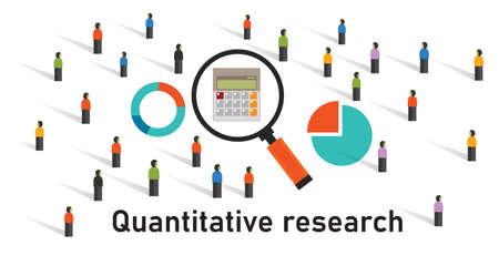 quantitative research method statistics survey get data number chart market research analysis
