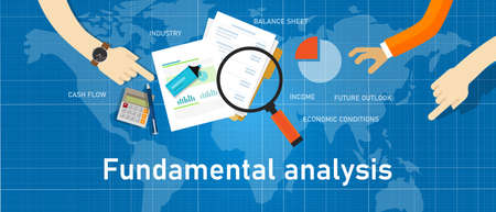 fundamental analysis stock investment analysis by looking at company data Çizim
