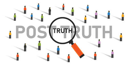 post truth hoax for public in political people looking for real news
