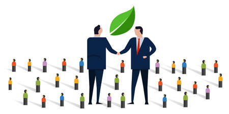 new green deals handshake sustainable environment agreement together with partner between country